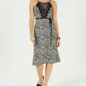 J.O.A. Large Black White Corset Dress M6-09